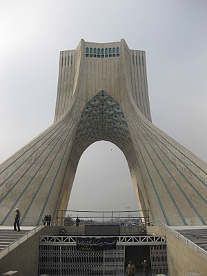 English: Azadi tower in Tehran, Islamic republ...