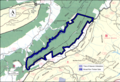 Boundary of the North Mountain wildland as identified by the Wilderness Society.png