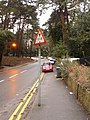 Bournemouth, redundant height warning sign in Meyrick Park - geograph.org.uk - 1772599.jpg
