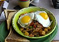 Breakfast hash at Legends Bistro (21838853126).jpg