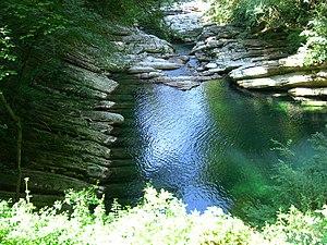 Breggia (river) - The Breggia at Morbio Inferiore.