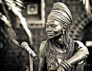 Brenda Fassie - Angus Taylor's life-size bronze sculpture of Brenda Fassie outside Bassline, a music venue in Johannesburg. ''The Sunday Times'' commissioned the tribute, which was installed in March 2006.