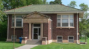National Register of Historic Places listings in Custer County, Nebraska - Image: Brenizer Library from S