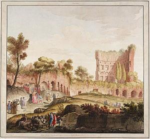 Vincenzo Brenna - Baths of Titus from Vestigia delle Terme di Tito by Smuglewicz, Brenna and Carloni