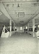 Center aisle of a large barn