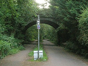 Bridge carrying A4118 over Swansea Cycle path - geograph.org.uk - 208434.jpg