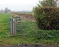 Bridleway gate, Flecknoe Road - geograph.org.uk - 1252584.jpg