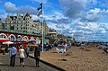 Brighton - Esplanade down King's Road - View ESE towards Brighton Pier.jpg