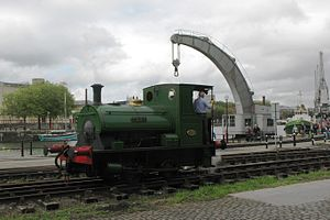 Bristol Harbour Railway - Image: Bristol Harbour Railway Teddy by the Fairbairn Crane