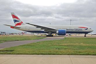 British Airways Flight 2276 - G-VIIO, the aircraft involved, at Gatwick Airport in 2009