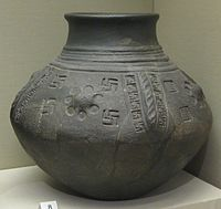 British Museum cinerary urn with swastika motifs