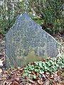 Broken 17th century gravestone at Bradford Cathedral (5368060492).jpg