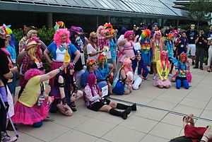 BronyCon - Cosplay photoshoots, such at this one during the 2014 convention, are a common feature of BronyCon.