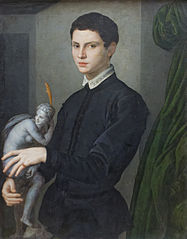 Portrait of a Man Holding a Statuette