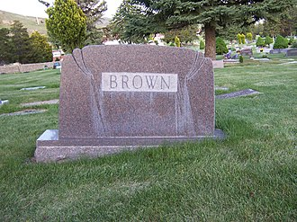 Hugh B. Brown - Image: Brown Family Marker