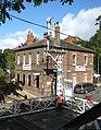 Brundall railway station - gantry signal - geograph.org.uk - 1531787.jpg