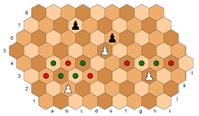 Brusky's hexagonal chess, pawn moves.PNG