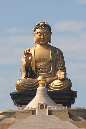 Religion in Taiwan - Buddha statue at Fo Guang Shan's Buddha Memorial Center in Kaohsiung.