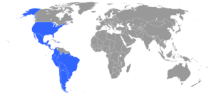 Buenos Aires Convention - Signatories to the Buenos Aires Convention are indicated in blue