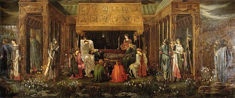Burne-Jones Last Sleep of Arthur in Avalon v2