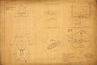 Old Burnett Heads Light - Plans for the conversion to automatic operation, 1920