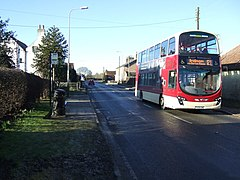 Bus stop on the A614, Thornholme (geograph 4356367).jpg