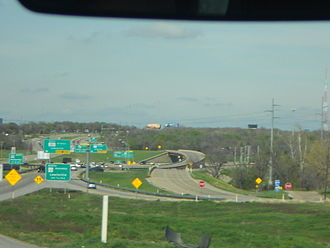 Texas State Highway 121 - Interchange between SH 121 and SH 121 Business Route