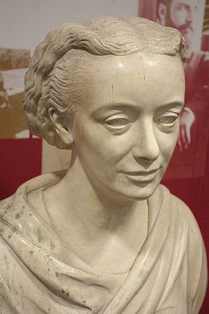 Amelia Edwards - Bust of Amelia Edwards, Petrie Museum, University College, London