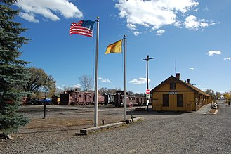 Chama, New Mexico - The Chama train depot.
