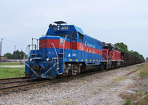 EMD GP7 - Chesapeake and Albemarle 2158 (an ex-ATSF GP7U) in Chesapeake, VA.