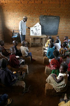 Education in the Central African Republic - Image: CAR classroom