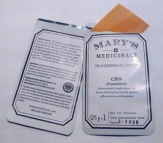 Cannabinol - Cannabinol 10 mg transdermal patches sold at marijuana dispensaries in Colorado, USA