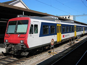 SBB-CFF-FFS RBDe 560 - The matching NPZ driving trailer (Bt) in Biel