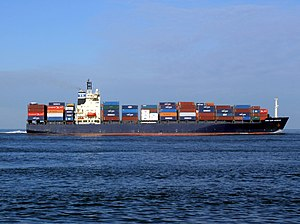 CMA CGM Aegean p3 approaching Port of Rotterdam, Holland 21-Feb-2005.jpg