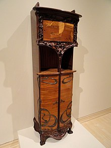 Cabinet by Louis Majorelle circa 1900  Furniture created in the Art Nouveau   Art Nouveau furniture   Wikipedia. Art Nouveau Furniture. Home Design Ideas