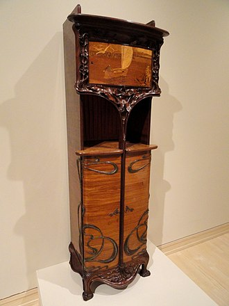 Art Nouveau furniture - Cabinet by Louis Majorelle circa 1900