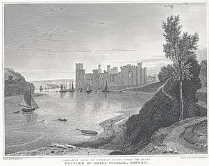Caernarvon Castle: the birth-place of King Edward the second founder of Oriel College Oxford