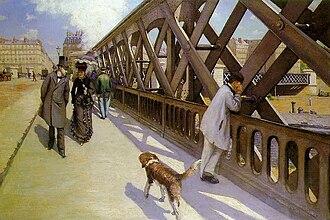 Flâneur - Gustave Caillebotte, Le Pont de l'Europe, oil on canvas, 1876. Musée du Petit Palais, Geneva.