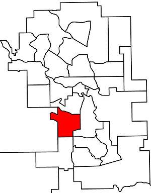 Calgary-Glenmore - 2010 boundaries