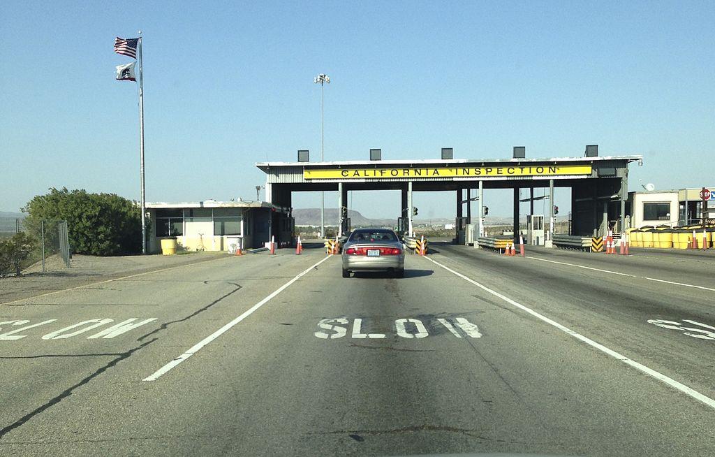 California Border Crossing / Inspection Station