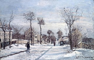 The Road to Versailles, Louveciennes, Snow