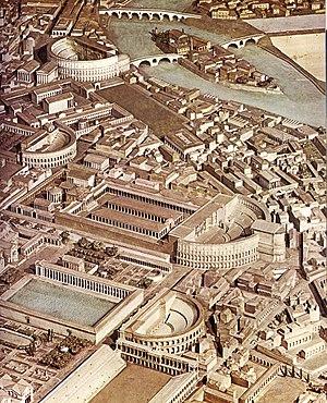 Model of the ancient Campus Martius around 300 AD