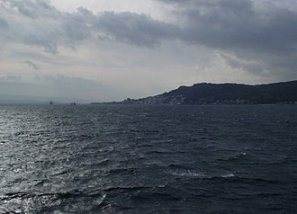 Gallipoli - A view of the Dardanelles from a ship