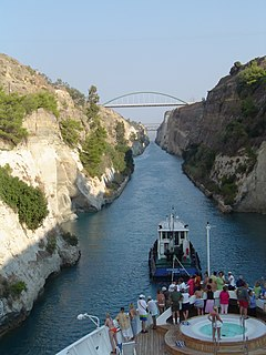 Corinth Canal canal in Greece