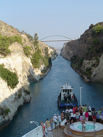 Corinth Canal - Image: Canal of Corinth