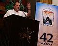 Canciller Patiño pronuncia discurso en conmemoración de los 42 años de la FENACLE (5489647523).jpg