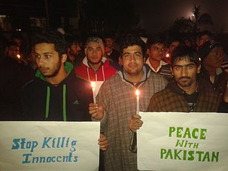2014 Peshawar school massacre - Candle light march by engineering students in Ambala, Haryana, India, condemning the attacks in Peshawar