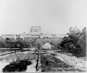 36th United States Congress - Image: Capitol under const 1860