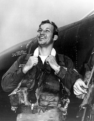 Richard Stephen Ritchie - Capt. Steve Ritchie, 555th Tactical Fighter Squadron, pictured beside the aircraft in which he became the first Air Force ace of the Vietnam War