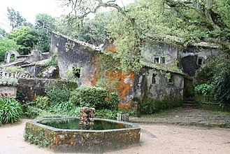 Convent of the Capuchos (Sintra) - View of the Terreiro do Fonte, the main internal courtyard of the Convent of Santa Cruz